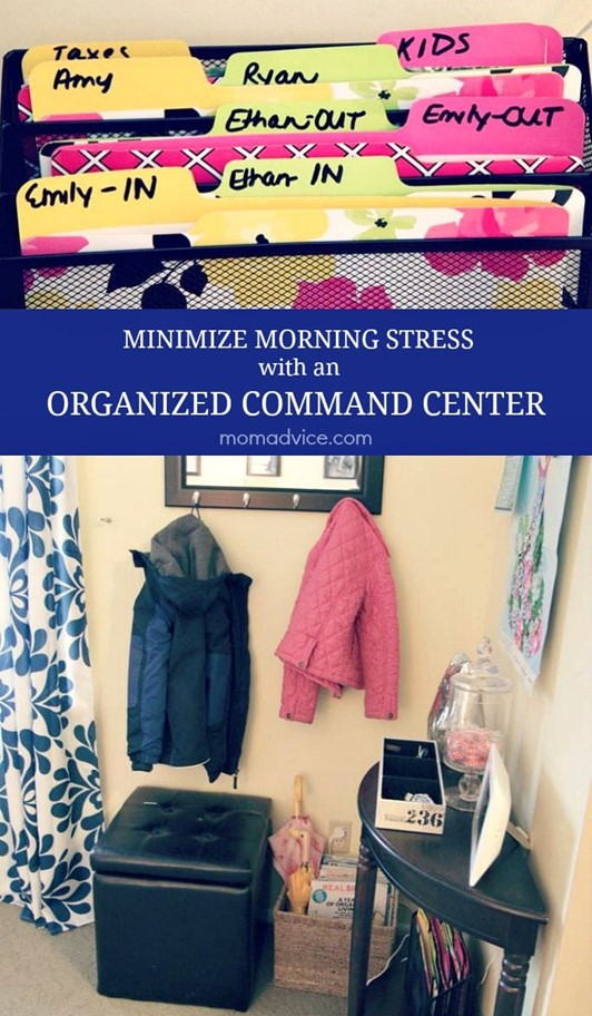Minimize Morning Stress With an Organized Command Center