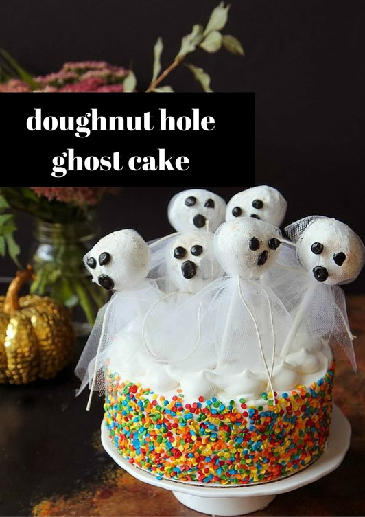 Doughnut Hole Ghost Cake