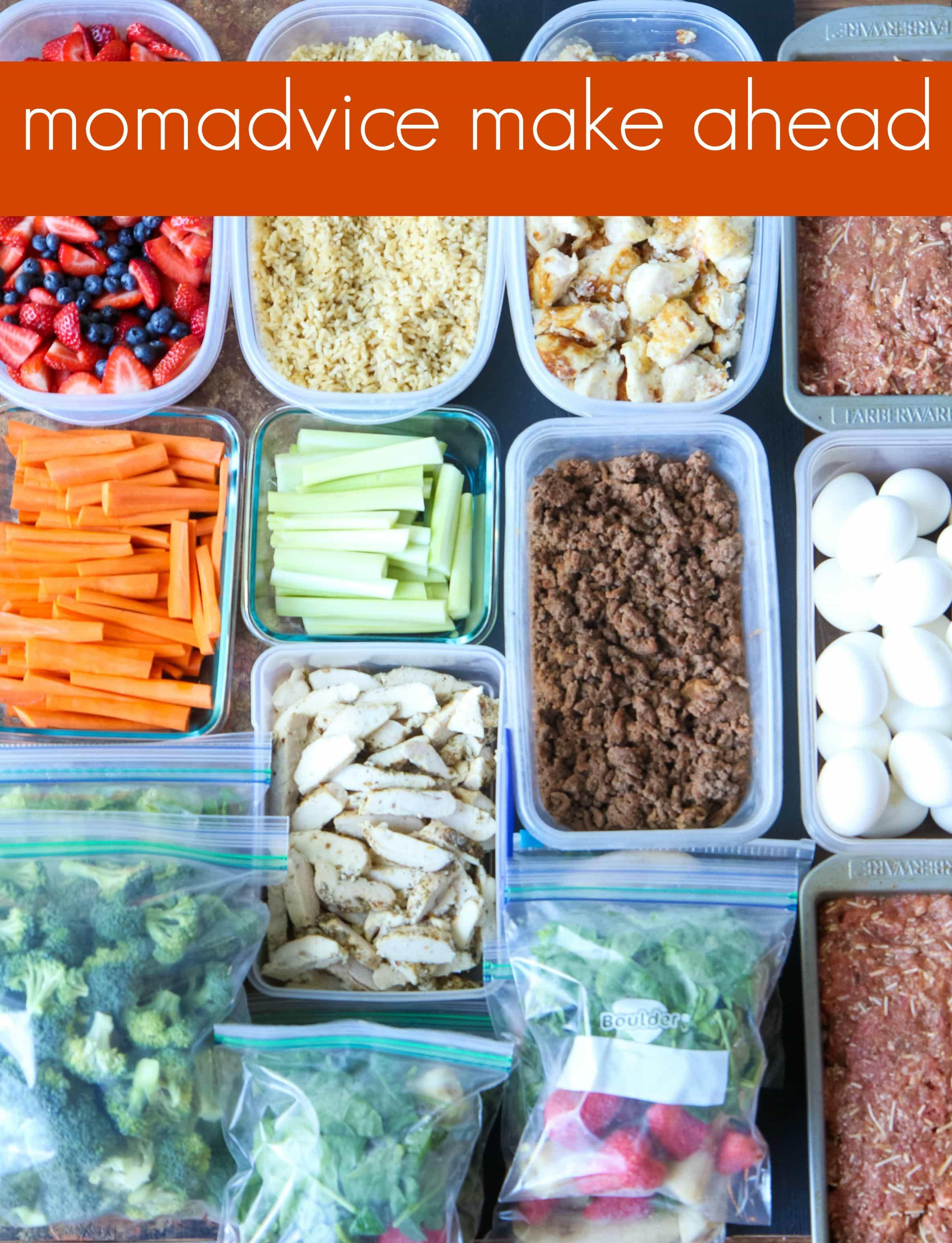 The MomAdvice Make Ahead Meal Ideas