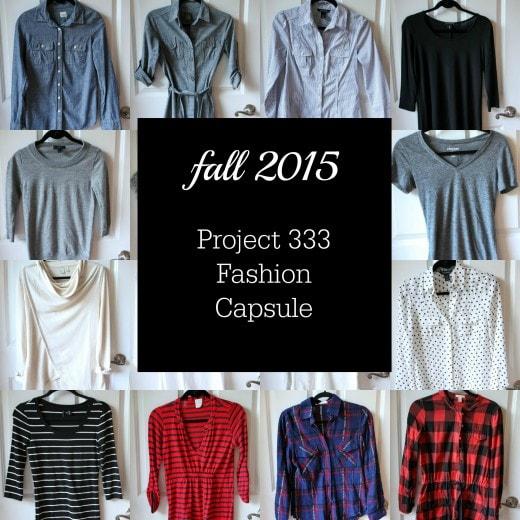 Fall 2015 Fashion Capsule Wardrobe Project