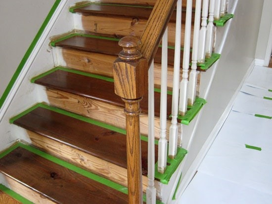 Staircase Makeover via In My Own Style