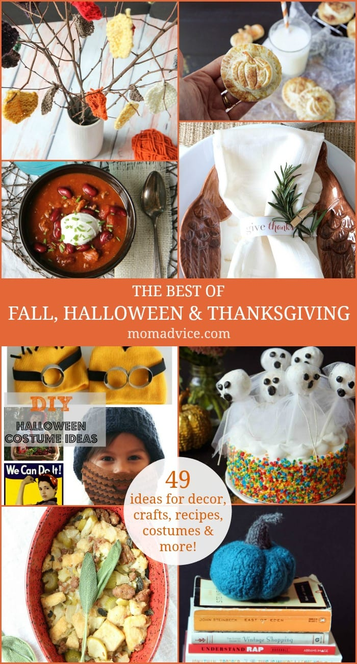 The Best of Fall, Halloween & Thanksgiving-49 Ideas for Decor, Crafts, Recipes, Costumes & More