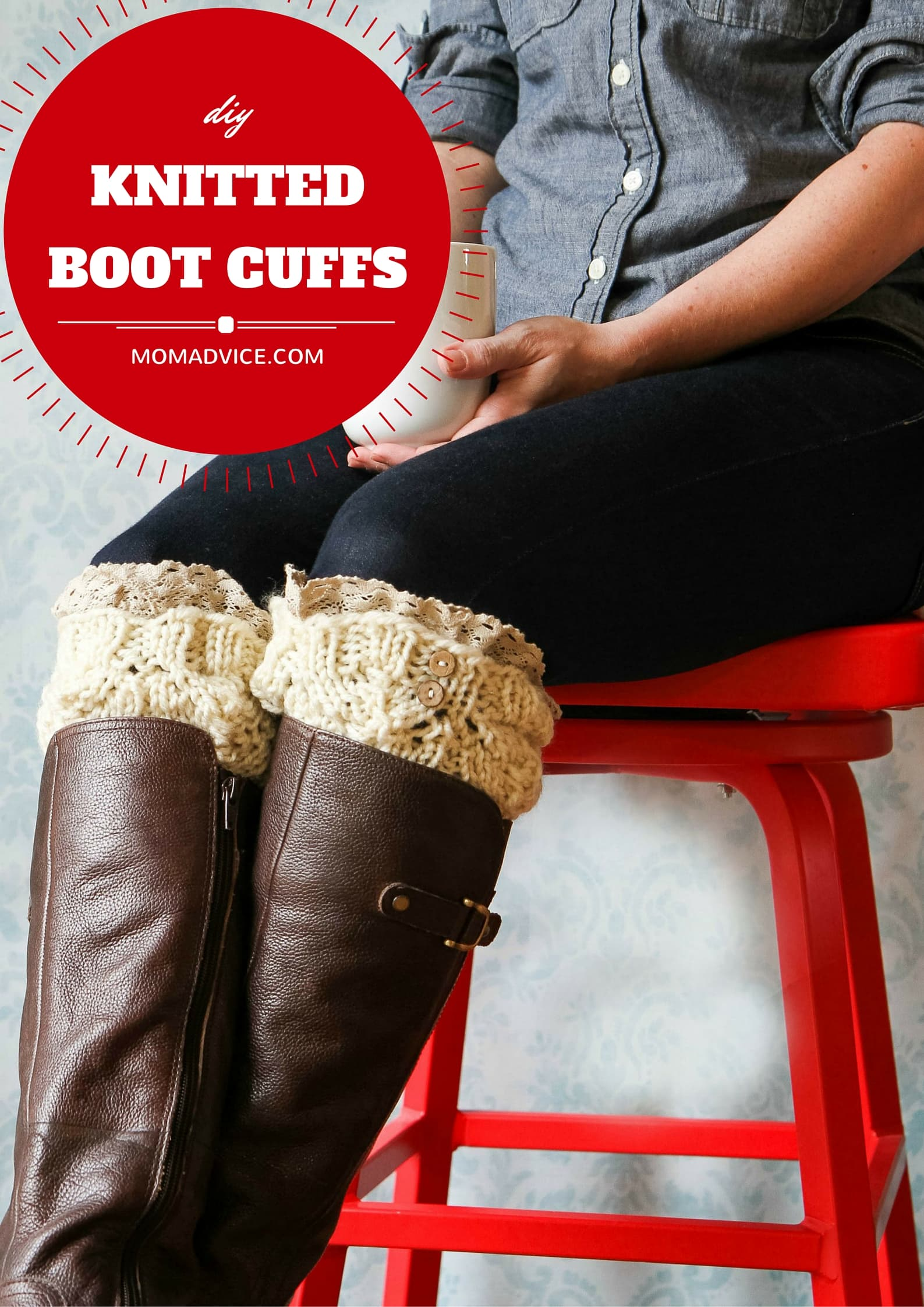 DIY Knitted Boot Cuffs from MomAdvice.com