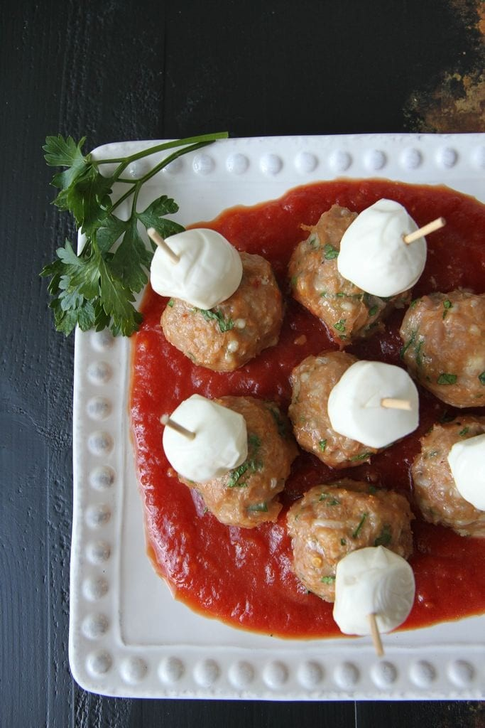 Gluten-Free Meatball Sub Game Day Appetizer from MomAdvice.com