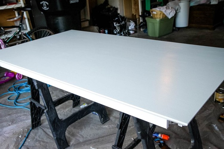 How to Paint a Kitchen Table First Coat