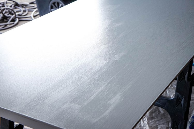 How to Paint a Kitchen Table Poly Coat