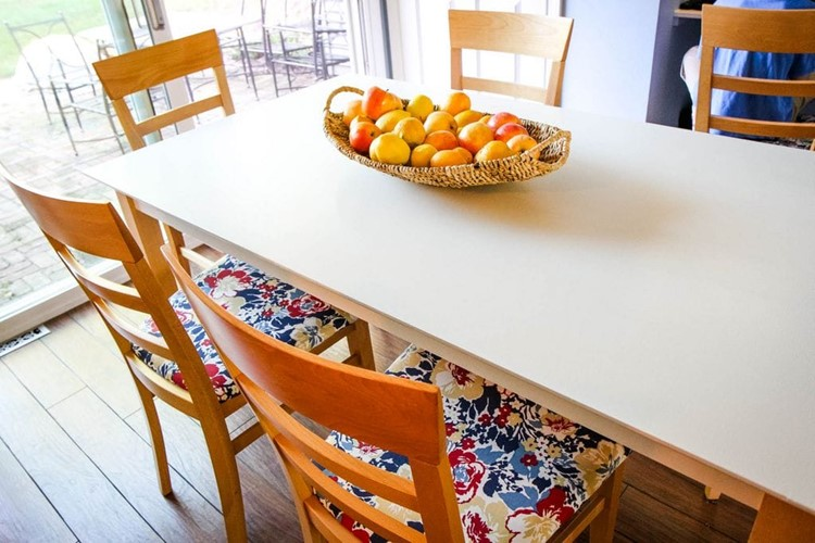 How To Paint A Kitchen Table Our Kitchen Table Makeover Momadvice