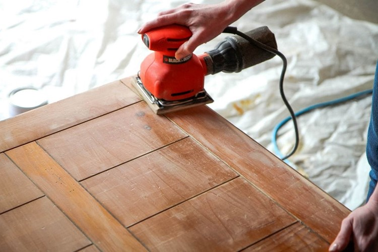 How to Spray Paint Furniture Sanding