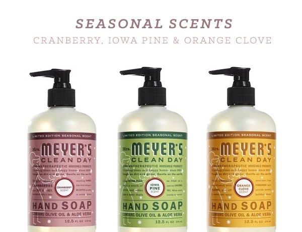 epantry  free mrs  meyer u2019s seasonal scents pack   29 value    free shipping