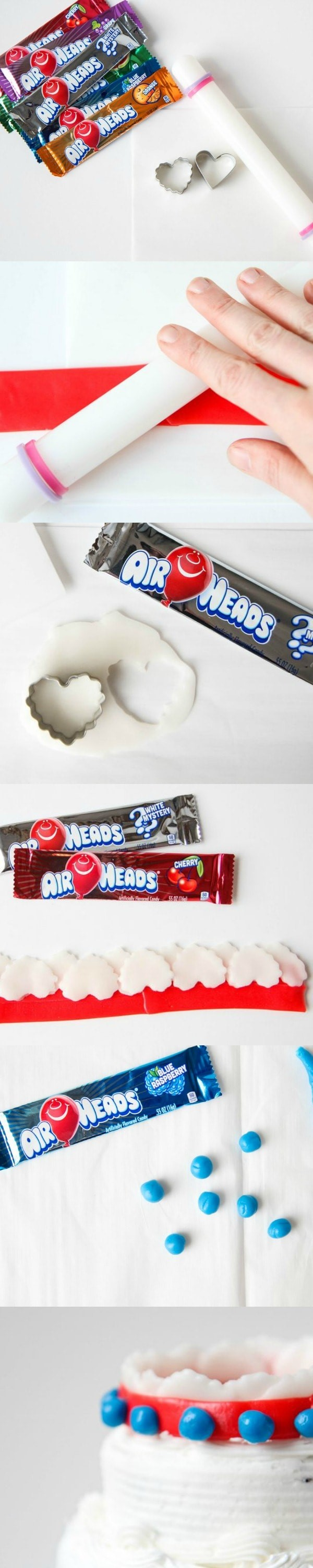 DIY Airheads Crown Cake Topper from MomAdvice.com