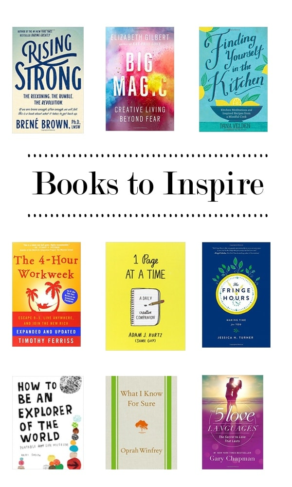 Books to Inspire via Shutterbean