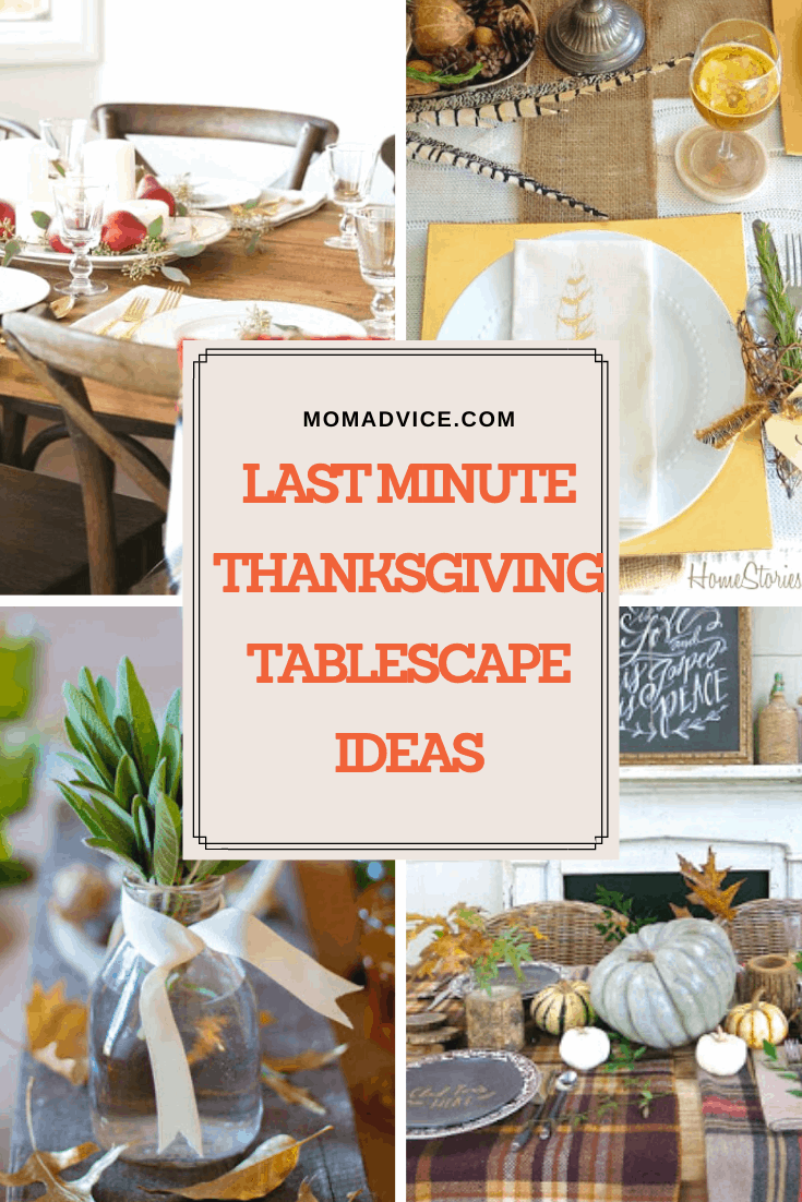 Last Minute Thanksgiving Tablescape Ideas MomAdvice.com