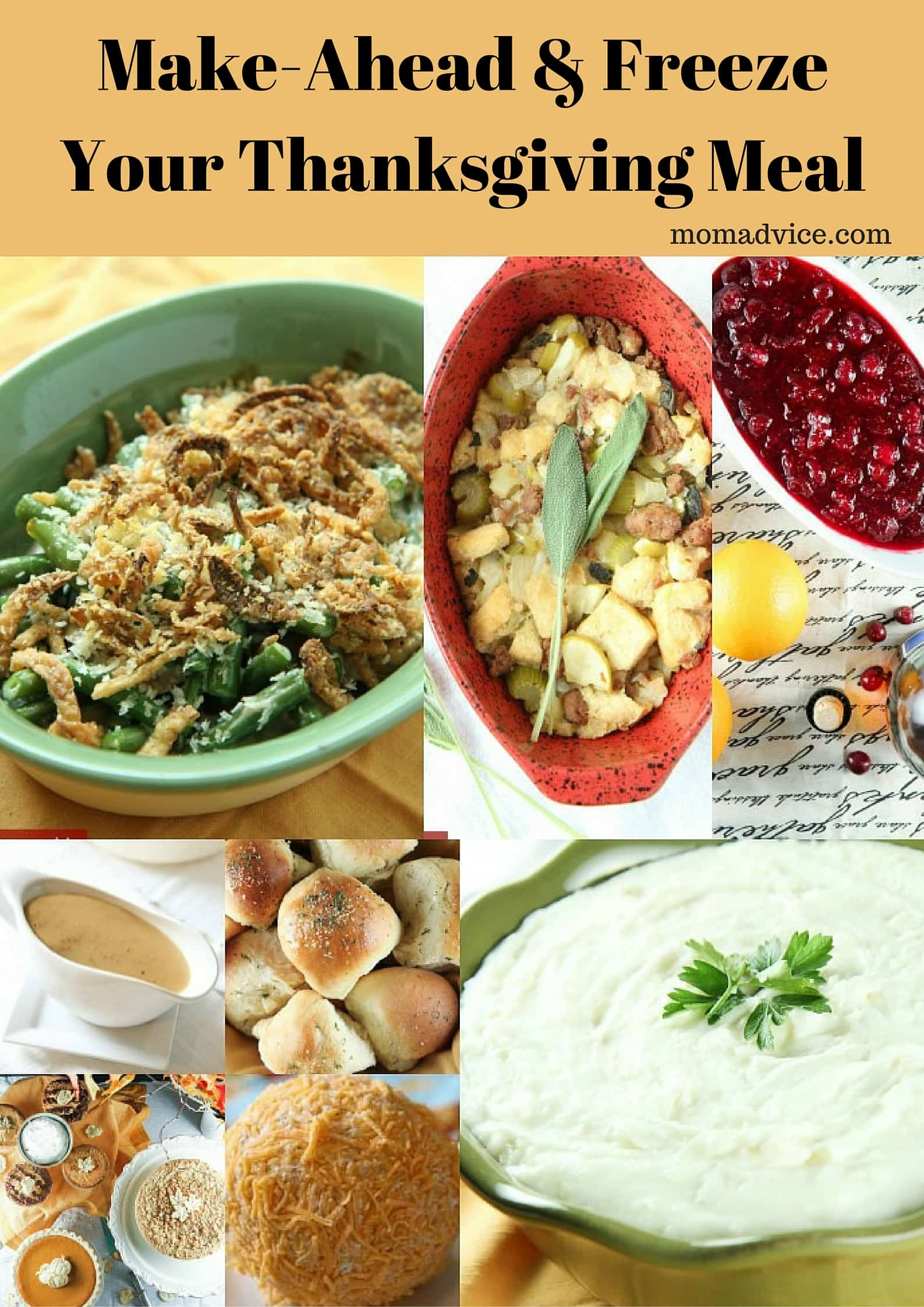 Make-Ahead & Freeze Your Thanksgiving Meal from MomAdvice.com