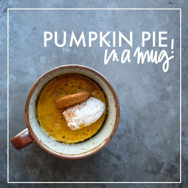 Mug pumpkin pie via Shutterbean