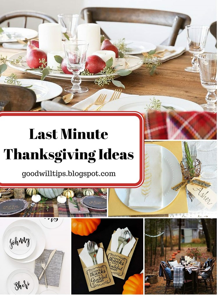 Last Minute Thanksgiving Tablescape Ideas from MomAdvice.com