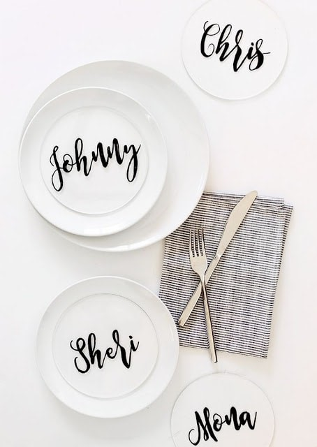 Thanksgiving Monogram plates