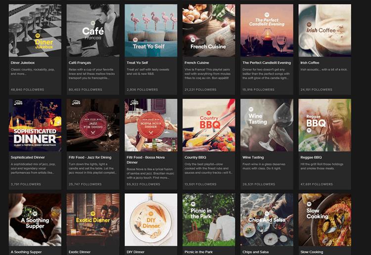 Spotify Dinner Music