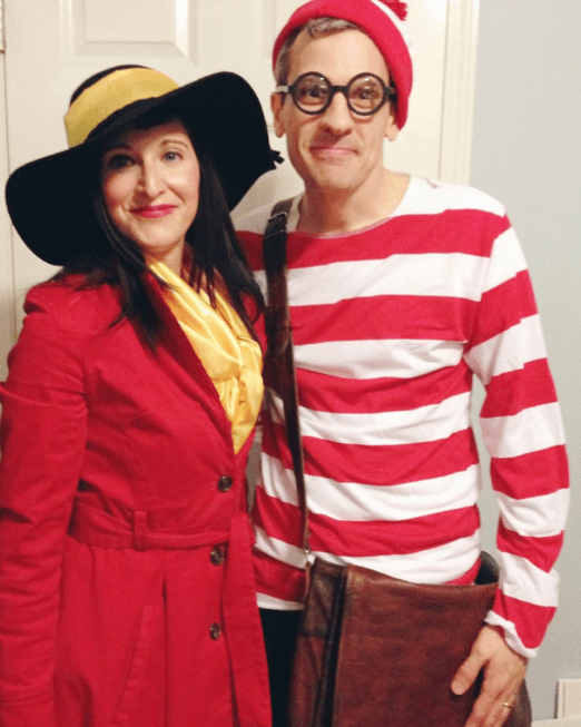 Where's Waldo & Carmen Sandiego Couple Costume