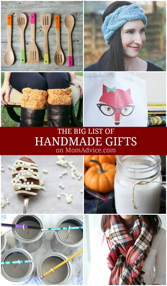 Big List of Handmade Gifts on MomAdvice.com