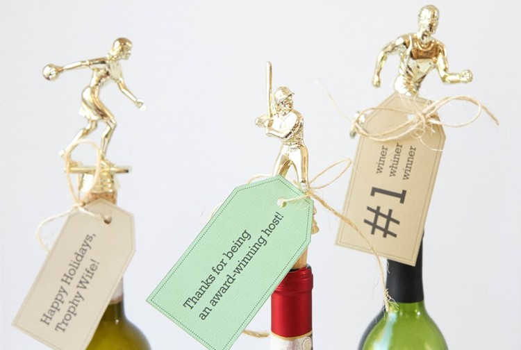 DIY Trophy Wine Toppers from MomAdvice.com