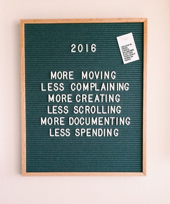 2016 Goals via Elise Blaha