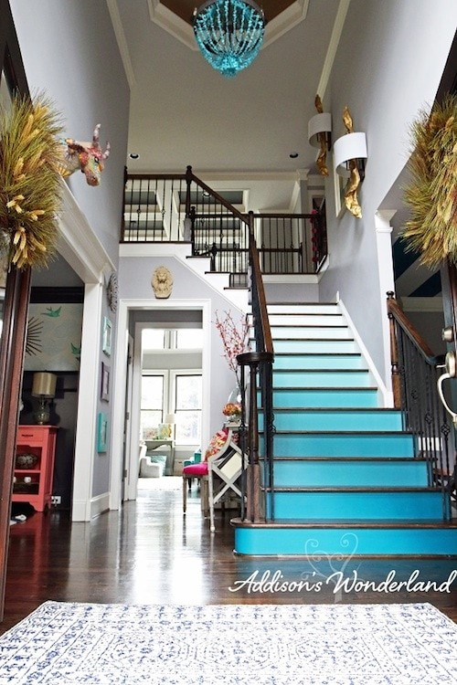Colorful Stairs via Design Mom