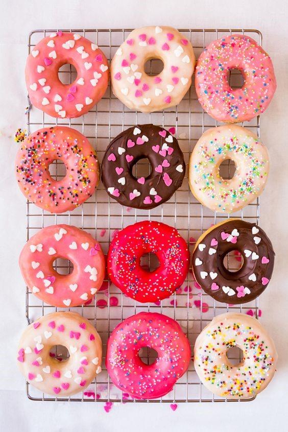 Glazed donuts via A Subtle Revelry