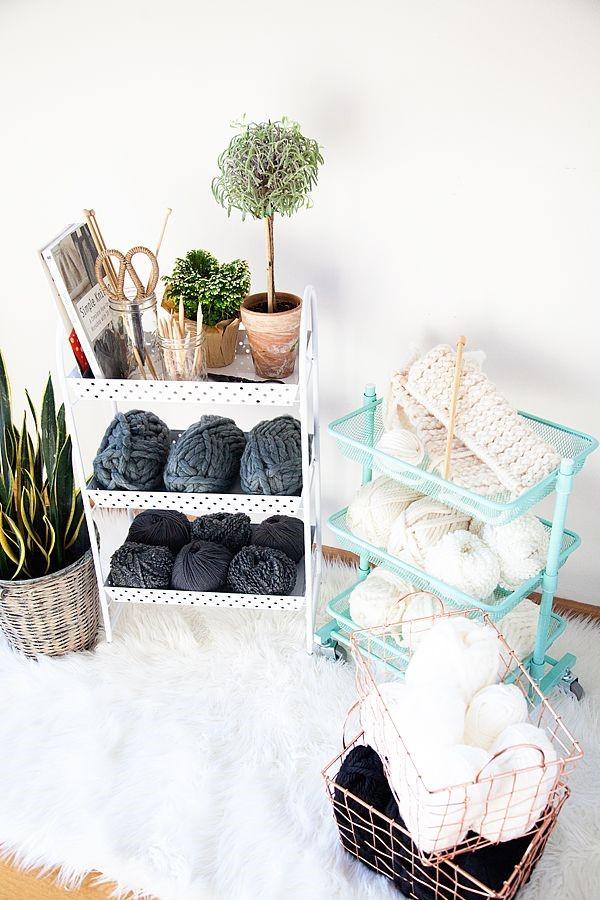 Knitting Station via Whipperberry