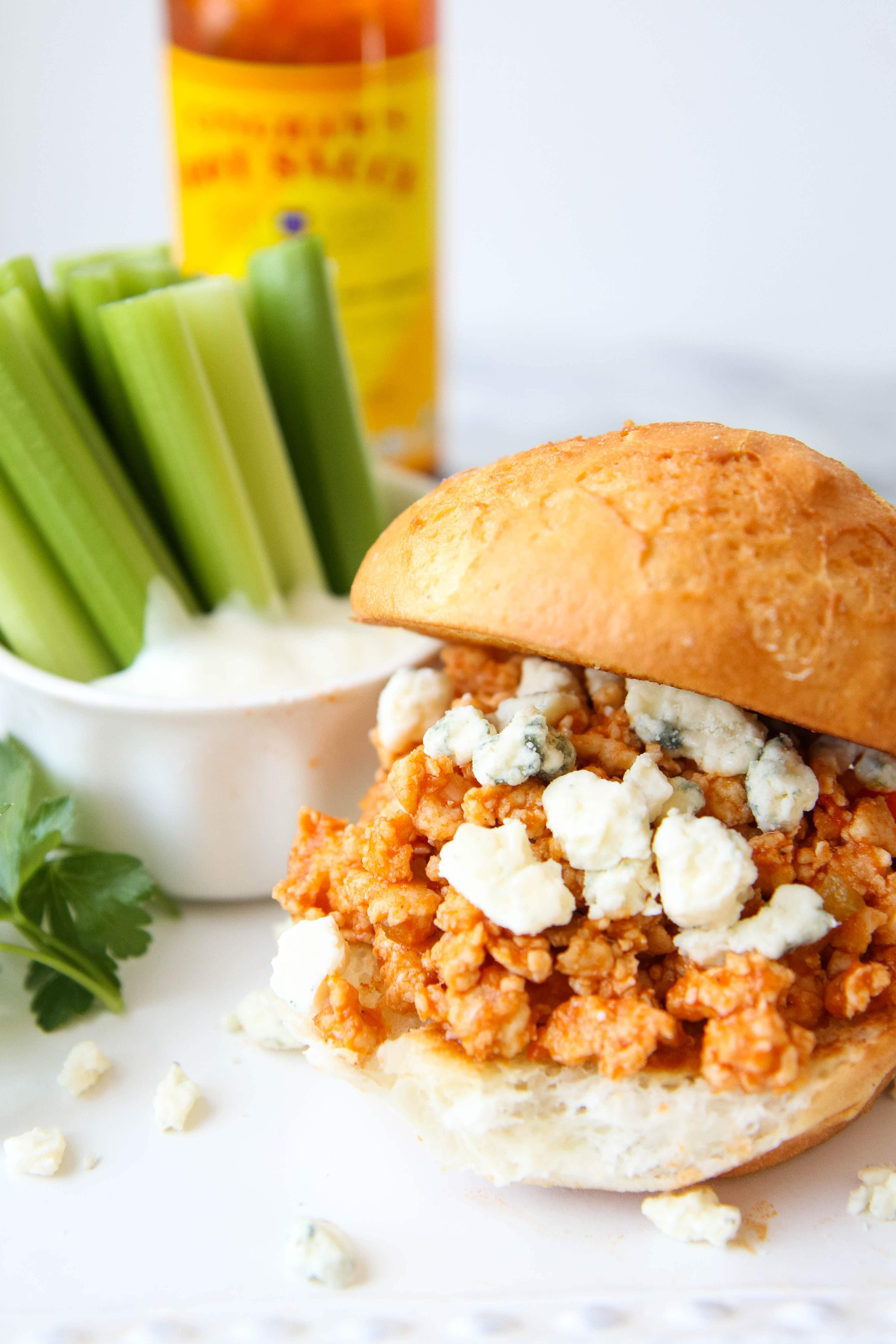 Gluten-Free Sloppy Buffalo Joes from MomAdvice.com