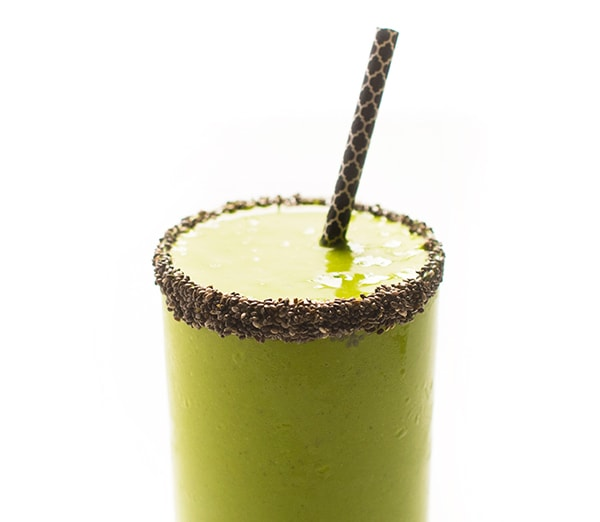 Coconut Mango Green Smoothie - perfect for a snack or breakfast.