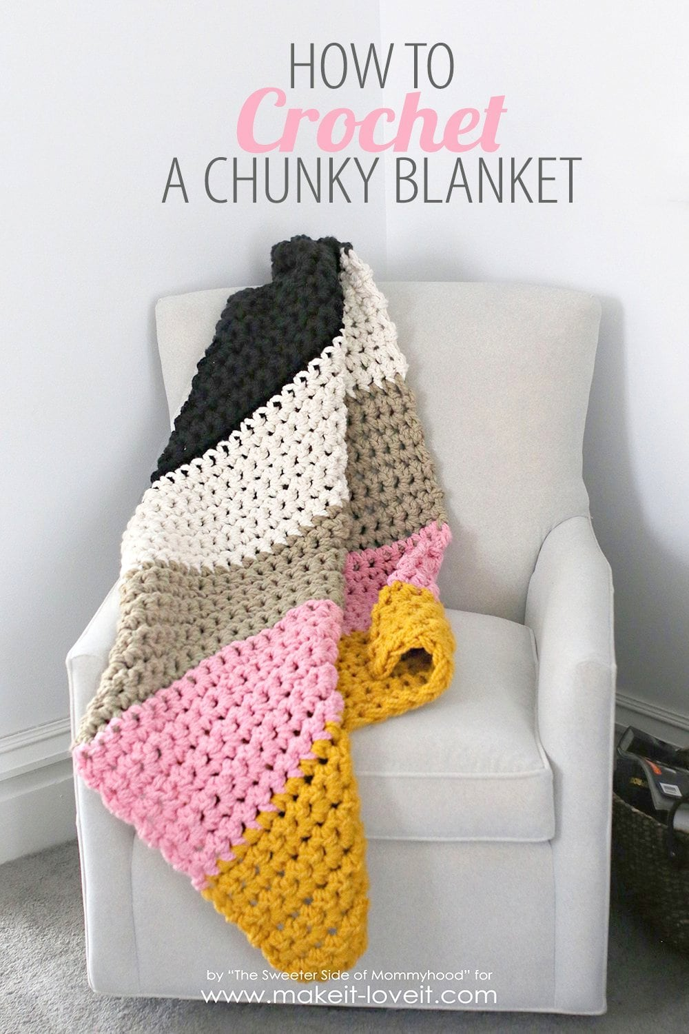 Crochet Chunky Blanket via Make It-Love It