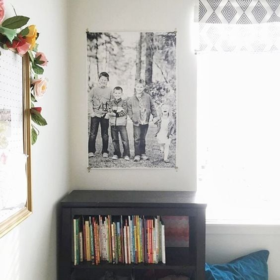 How to Hang a Large Photo via Jones Design Co.