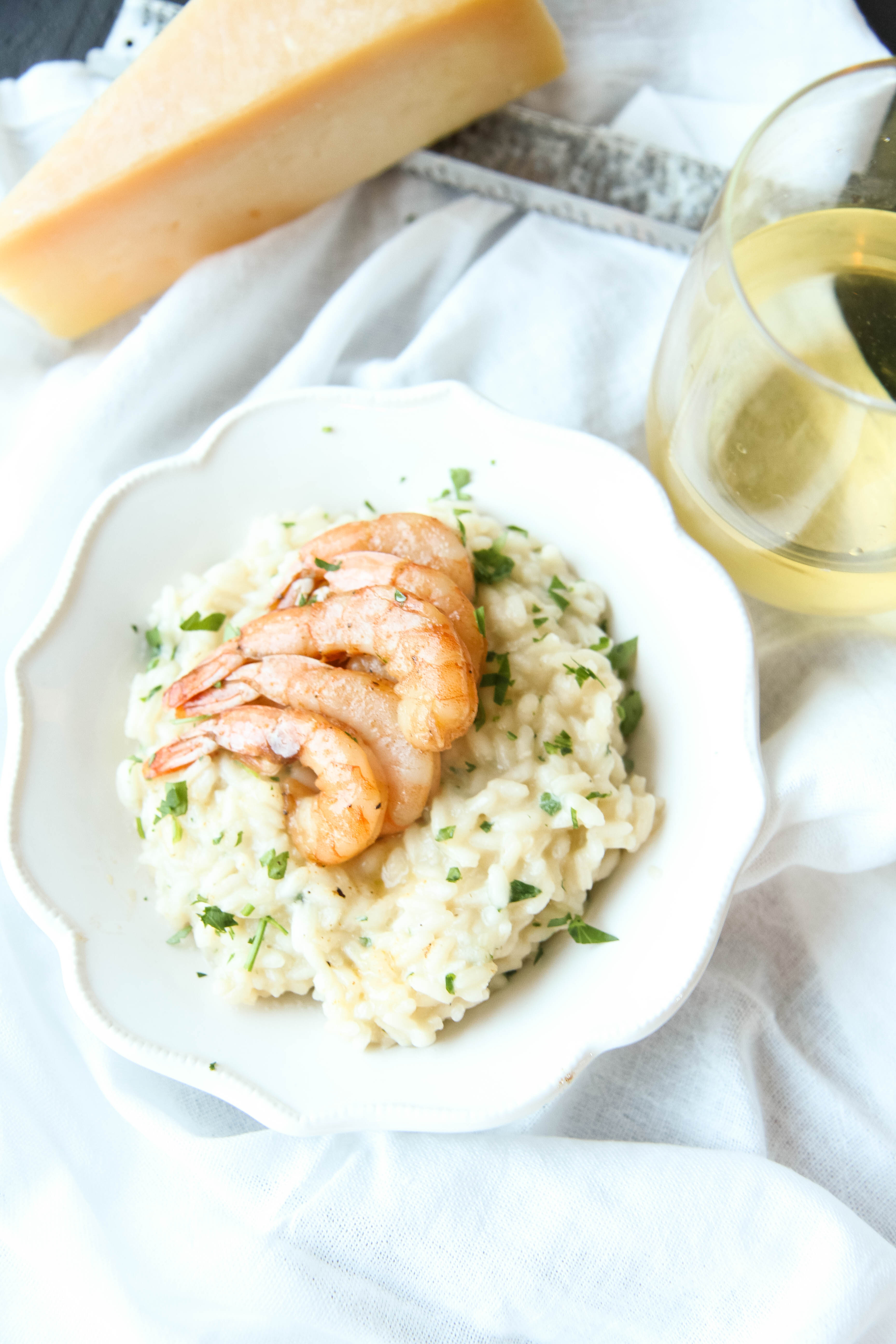 Parmesan Risotto With Roasted Shrimp from MomAdvice.com