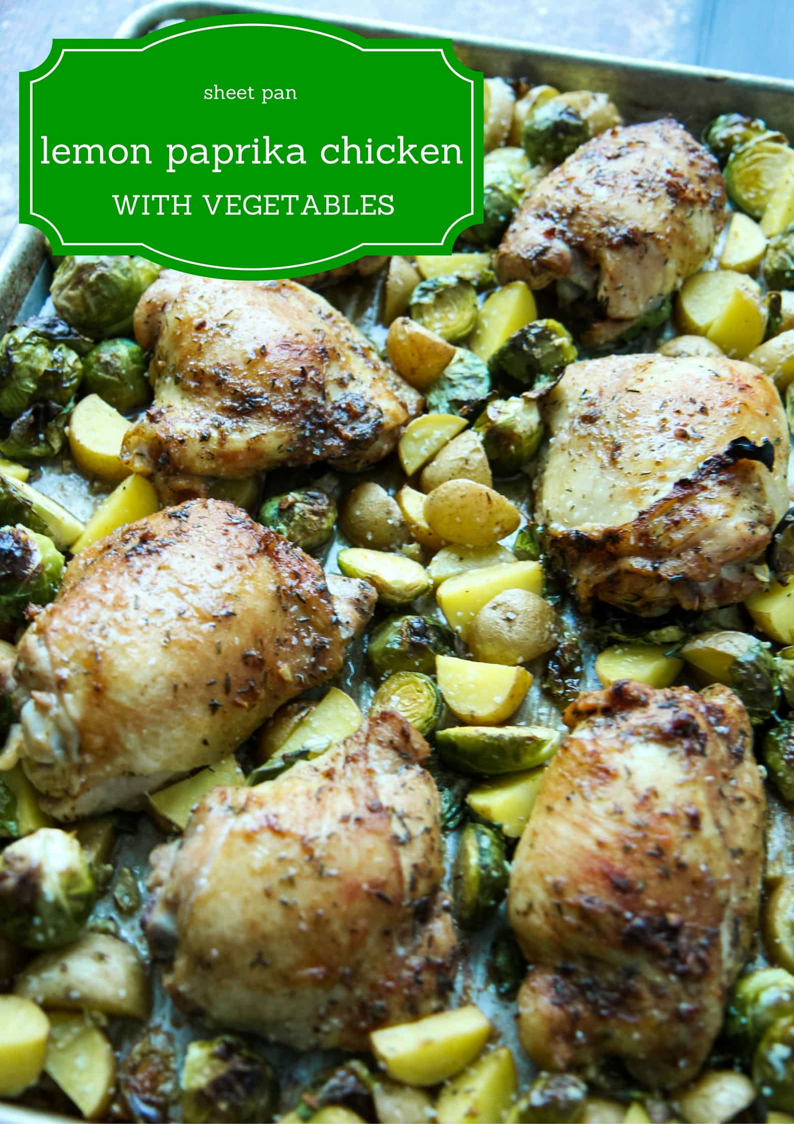 sheet pan lemon paprika chicken with vegetables