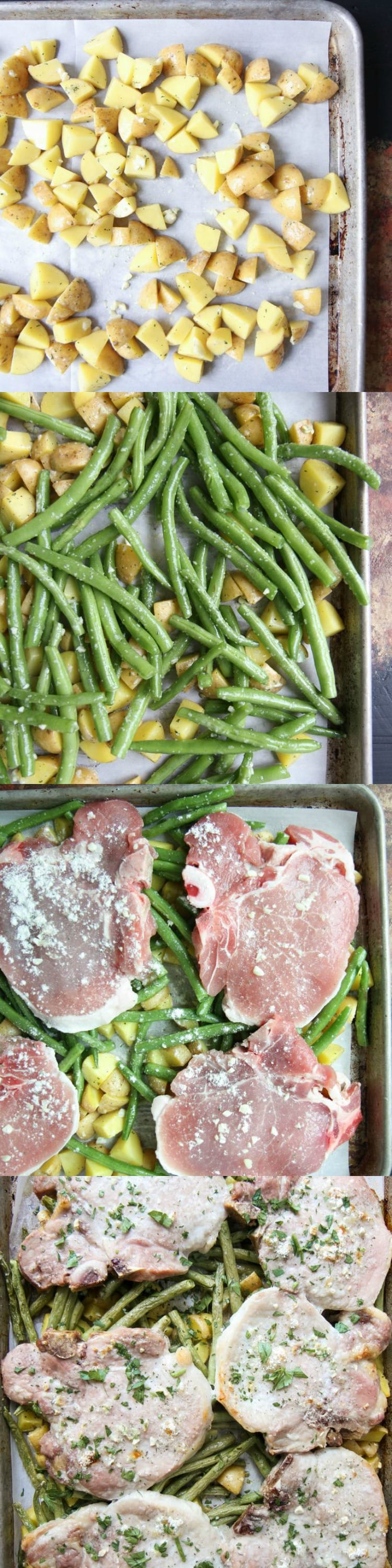 Sheet Pan Ranch Chops and Veggies from MomAdvice.com