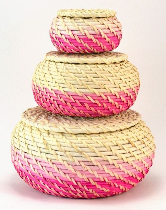 Dip-Dyed Storage Baskets via Dream a Little Bigger
