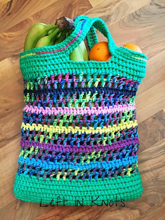Crochet Market Bag via Left in Knots