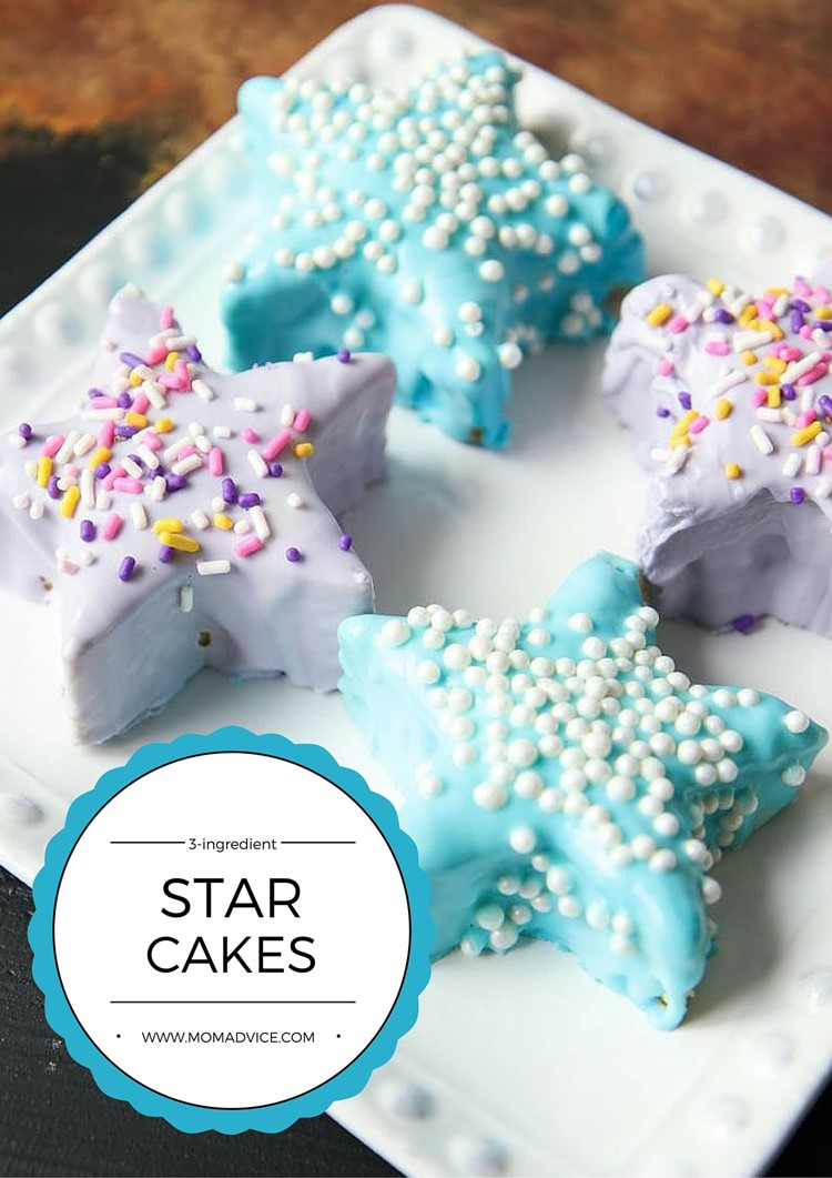 3-ingredient mini star cakes from MomAdvice.com