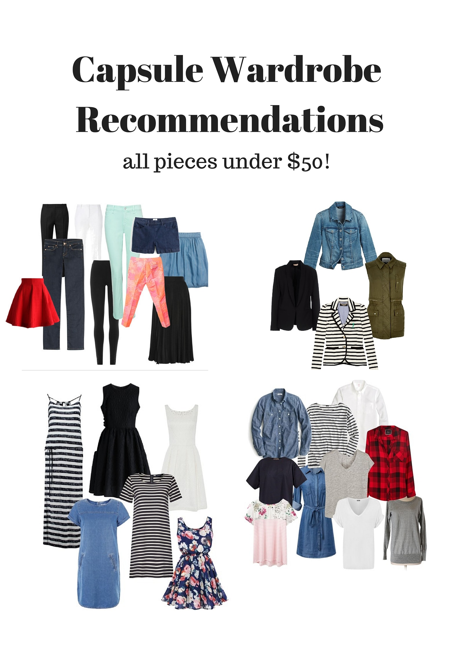 Best Capsule Wardrobe Basics Under $50 from MomAdvice.com