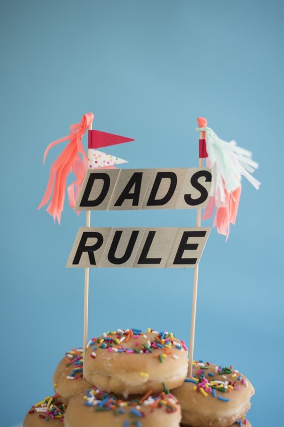 Father's Day Cake Toppers via Oh Happy Day