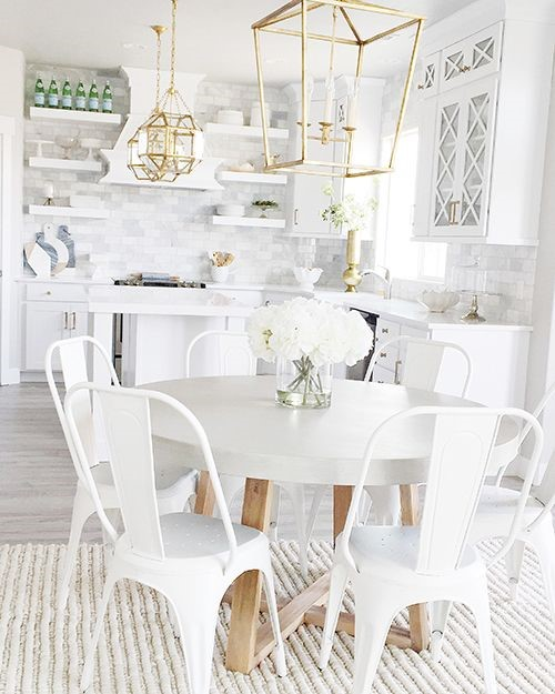 While Kitchen via Design Mom