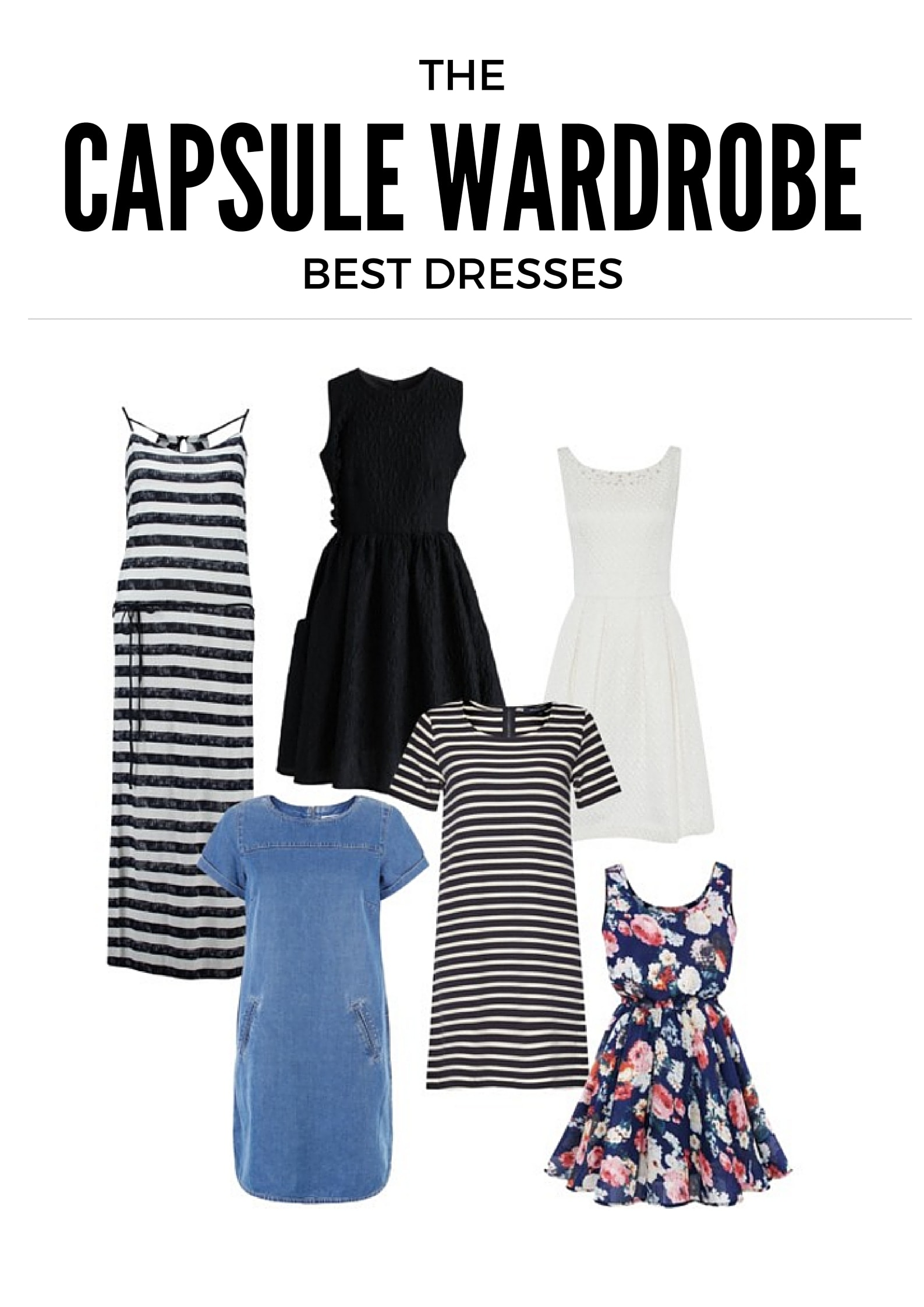 Best Capsule Wardrobe Basics Dresses Under $50 from MomAdvice.com