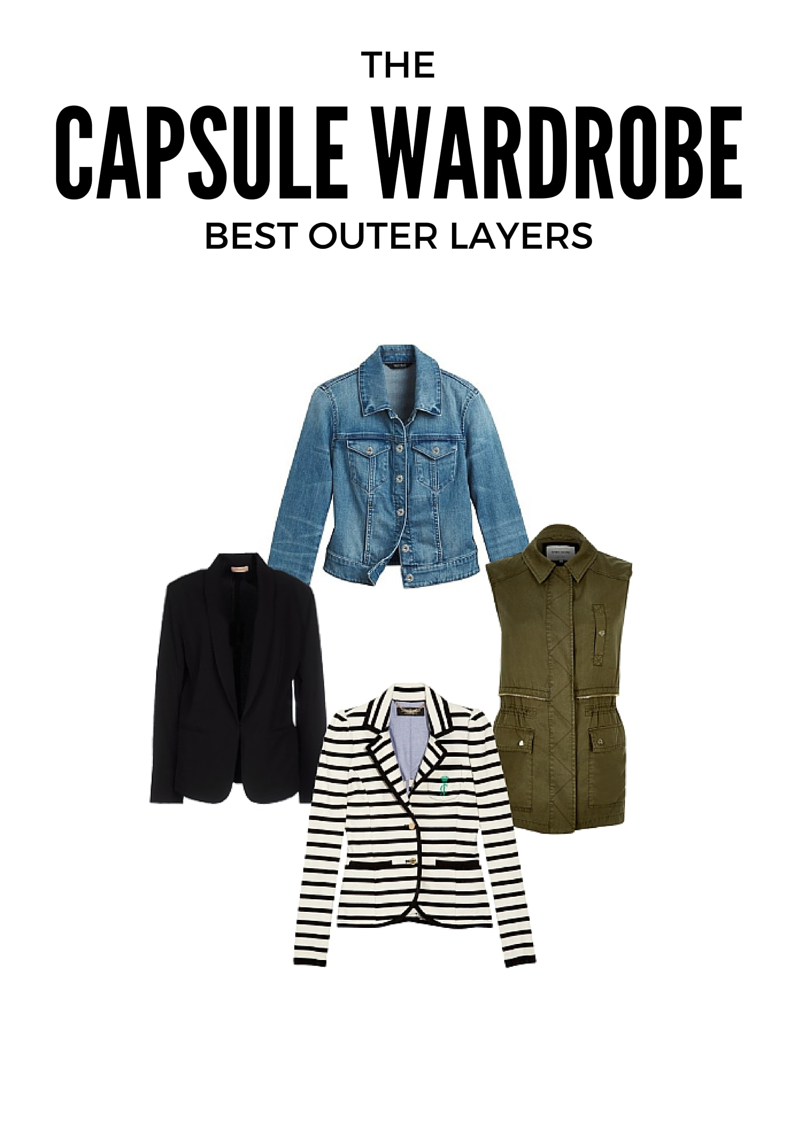 Best Capsule Wardrobe Basics Outer Layers Under $50 from MomAdvice.com
