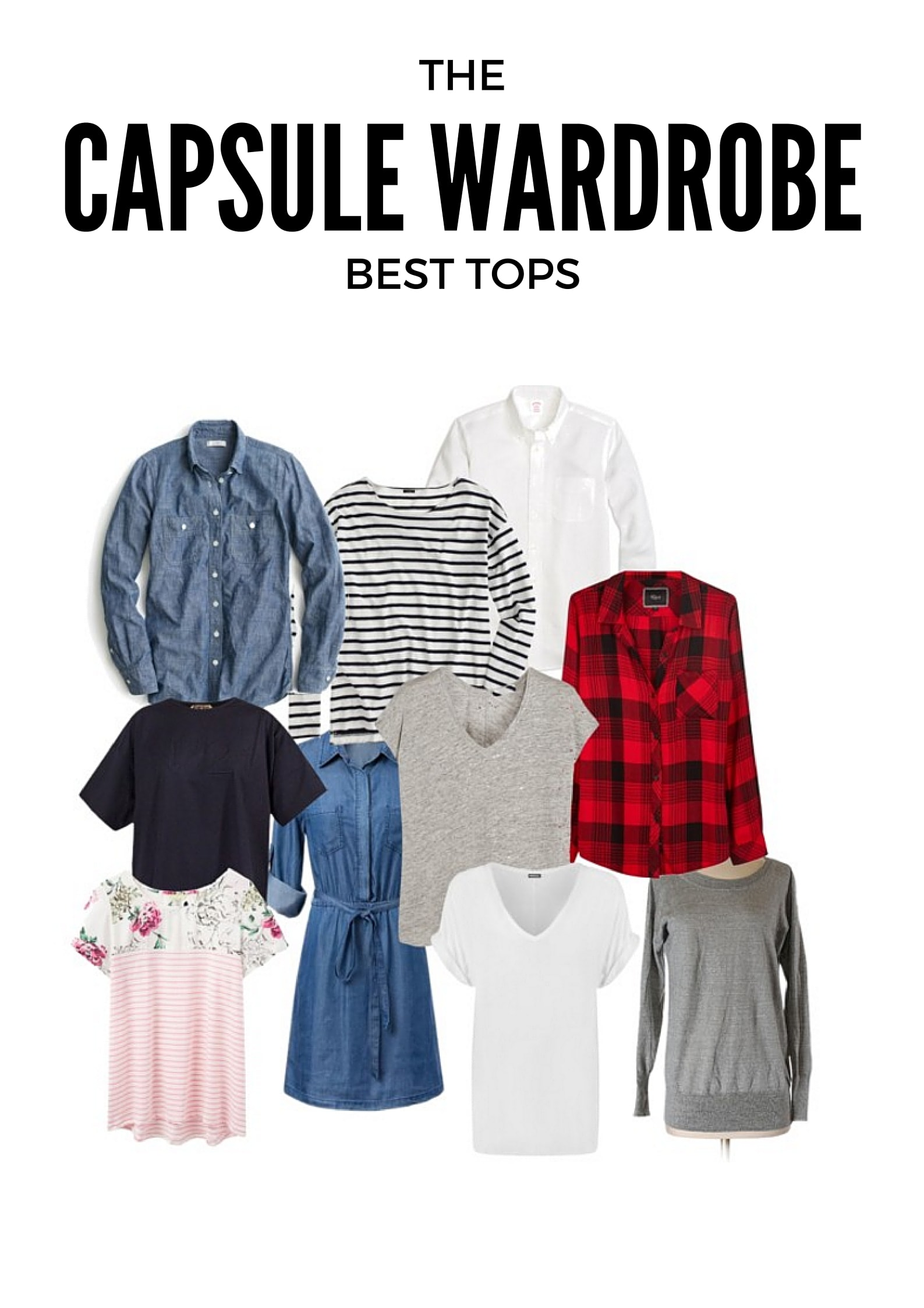 Best Capsule Wardrobe Basics Tops Under $50 from MomAdvice.com