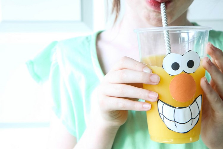 Celebrate National OJ Day (Funny Faces Printable) from MomAdvice.com
