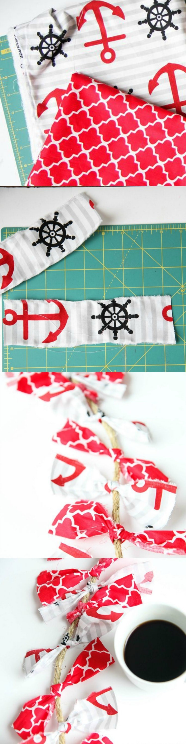 How to Make a Fabric Rope Garland from MomAdvice.com