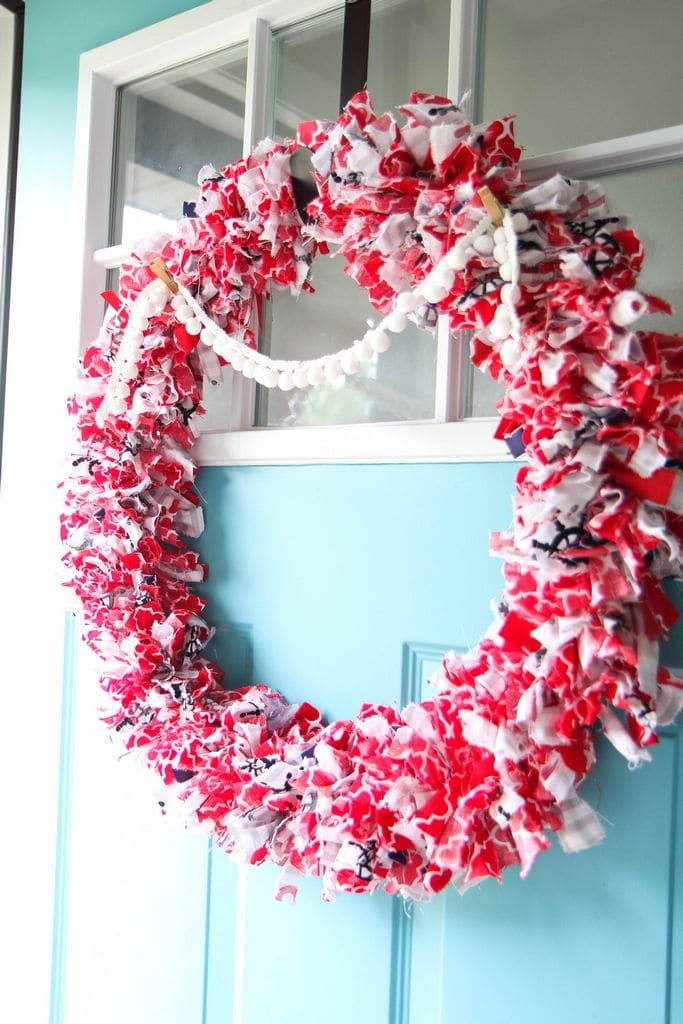 How to Make a Fabric Wreath And Garland from MomAdvice.com