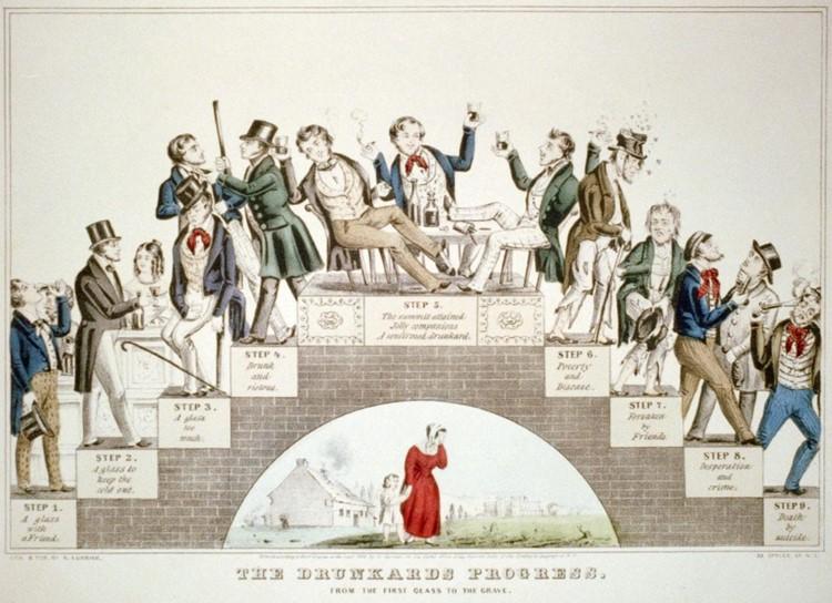 The Drunkard's Progress- Prohibition
