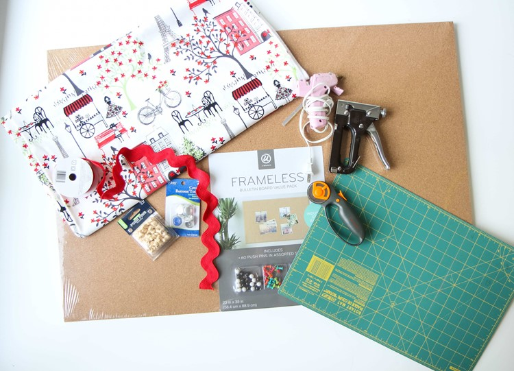 DIY Fabric Bulletin Board Tutorial from MomAdvice.com