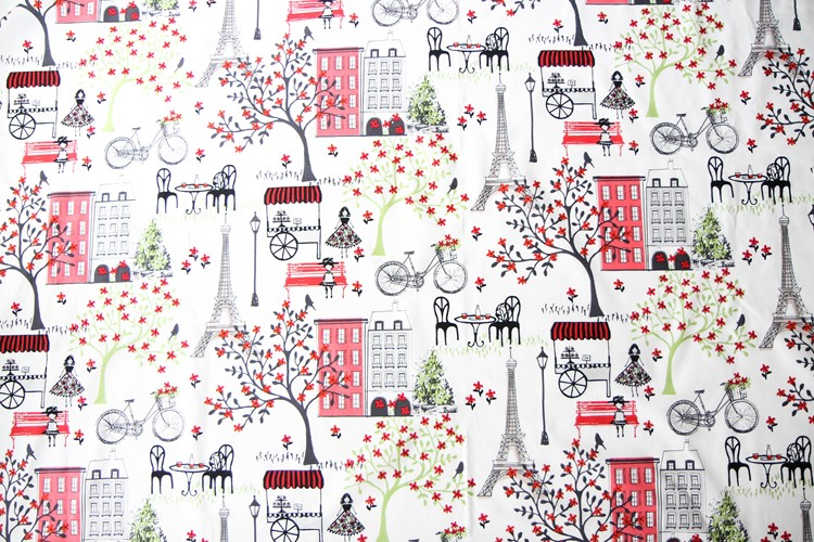 Waverly Inspirations Fabric- Paris Print